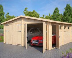Lesena Garaža Hansa E (krilna garažna vrata)