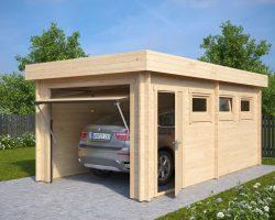 Lesena Garaža Hansa C (dvižna garažna vrata Hörmann)