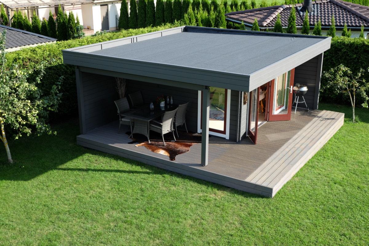 Das Hansa Lounge XL Gartenhaus mit erweitertem Sonnendeck3